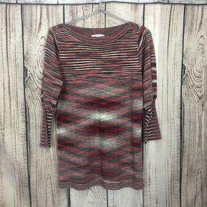 JohnPaulRichaed Heather Red Sweater Medium